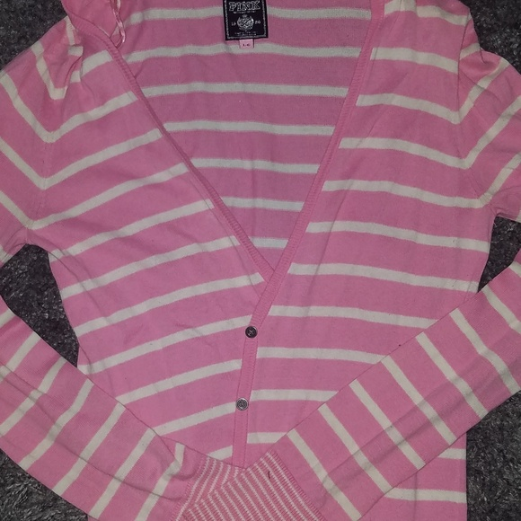 PINK by Victoria's Secret Hooded Cardigan Striped